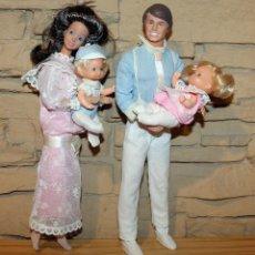 Barbie y Ken: FAMILIA CORAZON - BARBIE - ROTOPLAST - VENEZUELA - MUY DIFICIL - 4 MUÑECOS. Lote 240572275