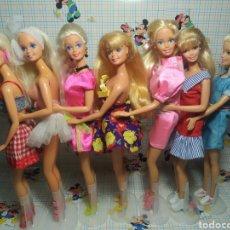 Barbie y Ken: 7 BARBIES VESTIDAS Y CON ZAPATOS. Lote 243686755