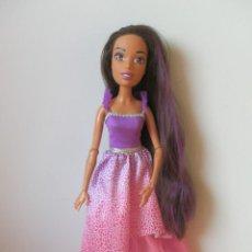 Barbie y Ken: MUÑECA BARBIE GRAN PRINCESA. MORENA. MIDE 43 CM. DE MATTEL.. Lote 244722790