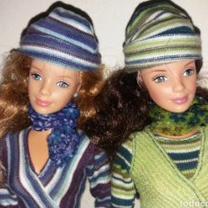 Barbie e Ken: LOTE 2 BARBIE DE MATTEL MODELO CORDUROY COOL PANA VERDE Y AZUL MOLDE BOB MACKIE 1999. Lote 253648730