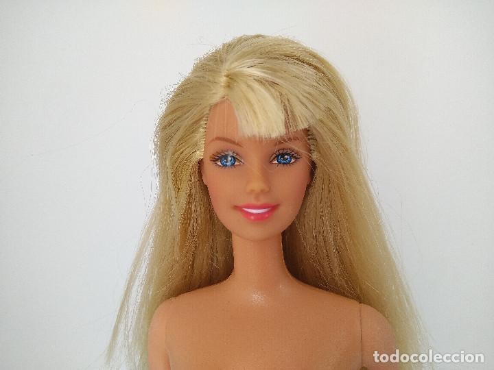 Barbie y Ken: Barbie rubia con flequillo estilo Style de 2001 / pies bailarina - Mattel, marcada 1966 - Foto 5 - 256079180