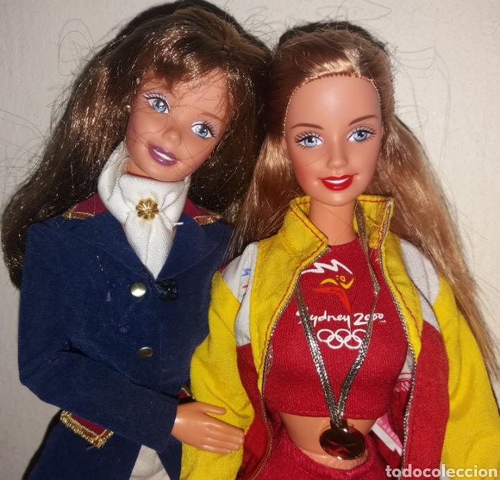 LOTE 2 BARBIE DE MATTEL: HORSE RIDING SUPERSTAR ERA 1997 Y OLIMPIADAS SYDNEY ESPAÑA 1999 (Juguetes - Muñeca Extranjera Moderna - Barbie y Ken)