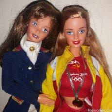 Barbie y Ken: LOTE 2 BARBIE DE MATTEL: HORSE RIDING SUPERSTAR ERA 1997 Y OLIMPIADAS SYDNEY ESPAÑA 1999. Lote 266434398