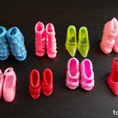 Barbie y Ken: LOTE 8 PARES DE ZAPATOS PLASTICO BLANDO VALIDO MUÑECA BARBIE. Lote 269227233