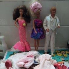 Barbie e Ken: LOTE 2 BARBIE MARTELL SPAIN CONGOST 1966 Y KEN 1983 MATTEL CON ROPAS ACCESORIOS. Lote 273634923