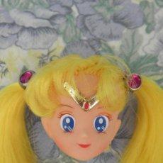 Barbie e Ken: CABEZA DE MUÑECA BUNNY O GUERRERO LUNA DE SAILOR MOON DE BANDAI PARA REPUESTOS. Lote 274429133