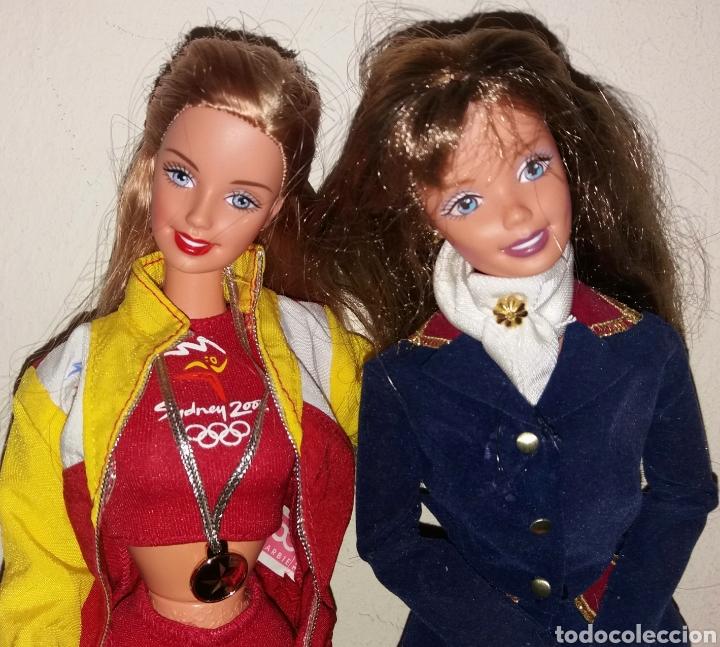 Barbie y Ken: LOTE 2 BARBIE DE MATTEL: HORSE RIDING SUPERSTAR ERA 1997 Y OLIMPIADAS SYDNEY ESPAÑA 1999 - Foto 2 - 266434398
