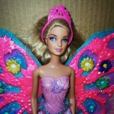 Barbie y Ken: BARBIE HADA ALAS MAGICAS MATTEL 2010 CON ZAPATOS DIADEMA Y FALDA. Lote 278980988