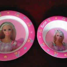 Barbie y Ken: ANTIGUA VAJILLA BARBIE 1997 MUÑECA RETRO KISTCH. Lote 280450803