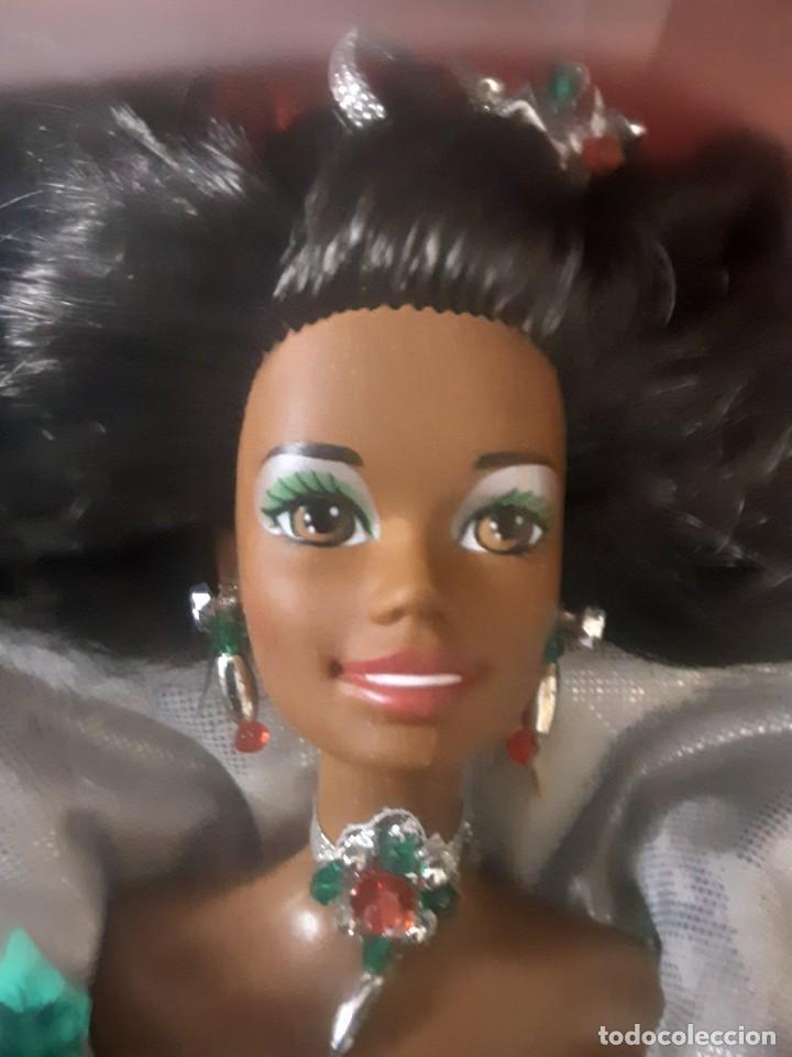 Barbie y Ken: Barbie especial negrita black Happy Holidays 1995 - Foto 3 - 283183608