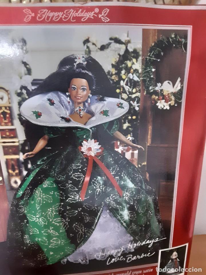 Barbie y Ken: Barbie especial negrita black Happy Holidays 1995 - Foto 4 - 283183608