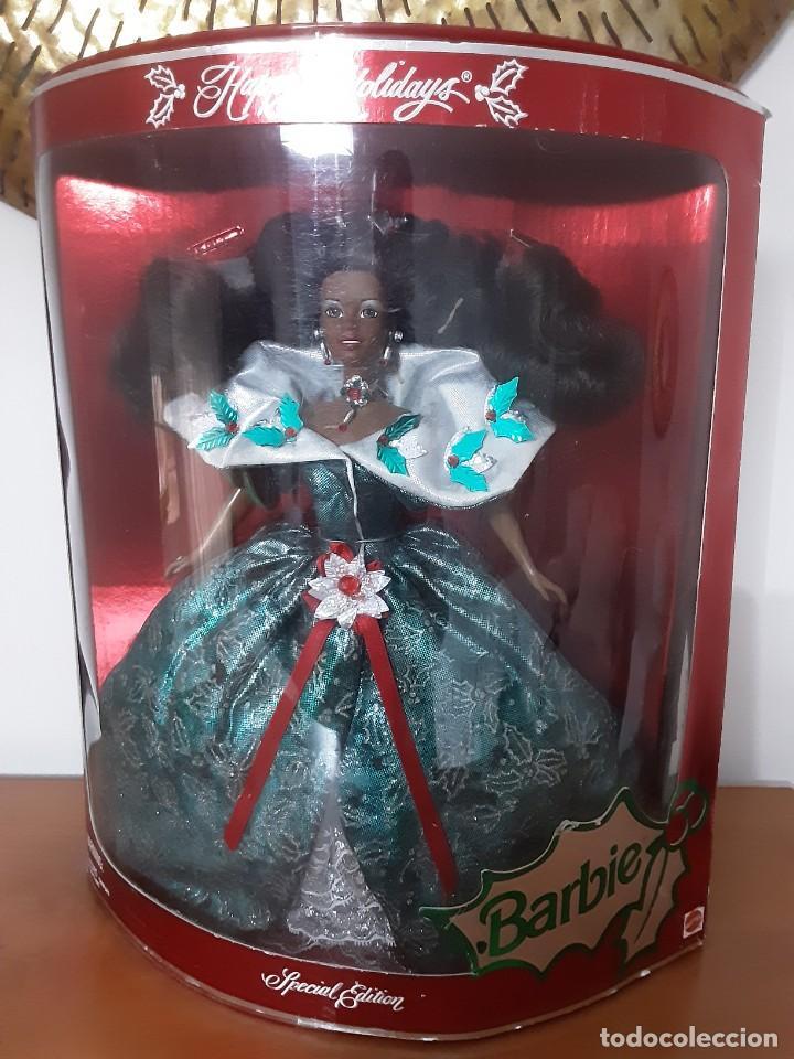 Barbie y Ken: Barbie especial negrita black Happy Holidays 1995 - Foto 5 - 283183608