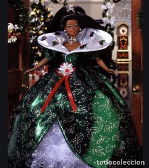 Barbie y Ken: Barbie especial negrita black Happy Holidays 1995 - Foto 6 - 283183608
