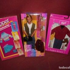 Barbie y Ken: MAGNIFICOS 3 BLISTERS ANTIGUOS DE BARBIE Y KEN. Lote 285145768