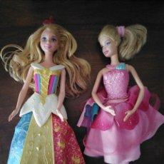 Barbie y Ken: PAREJA DE BARBIE. PRINCESA Y BAILARINA. CAMBIAN ASPECTO DE VESTIDO.. Lote 294367973