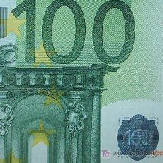 Billetes con errores: 100 EUROS CON ERROR. CORONA IMPRESA EN RELIEVE.. Lote 4363766