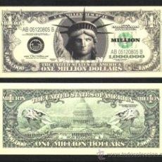 Billetes con errores: USA CURIOSO BILLETE DE 1 MILLON DE DÓLARES, PLANCHA.ONE MILLION DOLLARS .. Lote 21820680