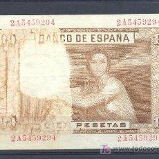 Billetes con errores: MUY RARO BILLETE DE ERROR DE 100 PTS 1953 PARTE DEL REVERSO DESTEÑIDO. Lote 17812586