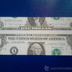Billetes con errores: E R R O R .....................1 DOLAR MUY DESPLAZADO............SIN CIRCULAR. Lote 20041771