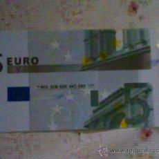 Billetes con errores: BILLETE DE 5 € CON DESPLAZAMIENTO VERTICAL..............SIN CIRCULAR. Lote 25819494