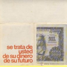 Billetes con errores: BILLETE HUMOR PUBLICIDAD -MIL PESETAS E.PRO.D -VER ESTADO FOTO ADJUNTA Y DESPLEGABLE -. Lote 25923024