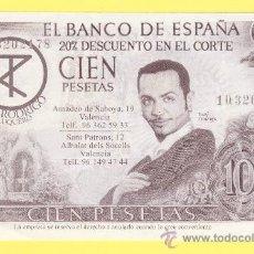Billetes con errores: BILLETE HUMOR PUBLICIDAD -TONI RODRIGO PELUQUERO 100-VER ESTADO FOTO ADJUNTA -PLANCHA. Lote 25928556