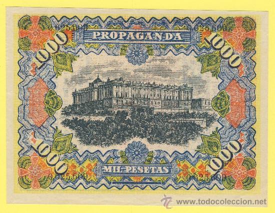 Billetes con errores: Billete humor publicidad -mil pesetas jabon chimbo-1940 ?- ver estado foto adjunta- - Foto 3 - 25922954