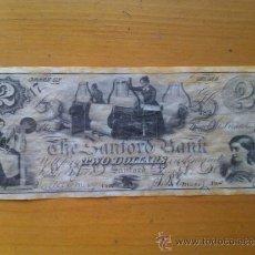 Billetes con errores: BILLETE MAINE. SANFORD BANK. 2 DÓLARES. 1861. UNIÓN. ESTADOS UNIDOS DE AMÉRICA