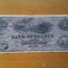 Billetes con errores: BILLETE ILLINOIS. QUINCY. 1 DÓLAR. 1861. UNIÓN. ESTADOS UNIDOS DE AMÉRICA