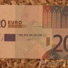 Billetes con errores: BILLETE DE 20 EUROS DEFECTUOSO. Lote 35490397