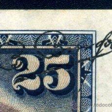 Billetes con errores: RARO ERROR - DESPLAZAMIENTO DE FIRMA DEL CAJERO - 25 PTAS 1928. Lote 36646719