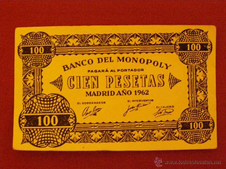 BILLETE MONOPOLY - 100 PESETAS - MADRID AÑO 1962 - (Numismática - Notafilia - Variedades y Errores)