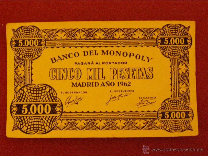 BILLETE BANCO DEL MONOPOLY - CINCO MIL PESETAS - MADRID AÑO 1962 - 5.000 (Numismática - Notafilia - Variedades y Errores)