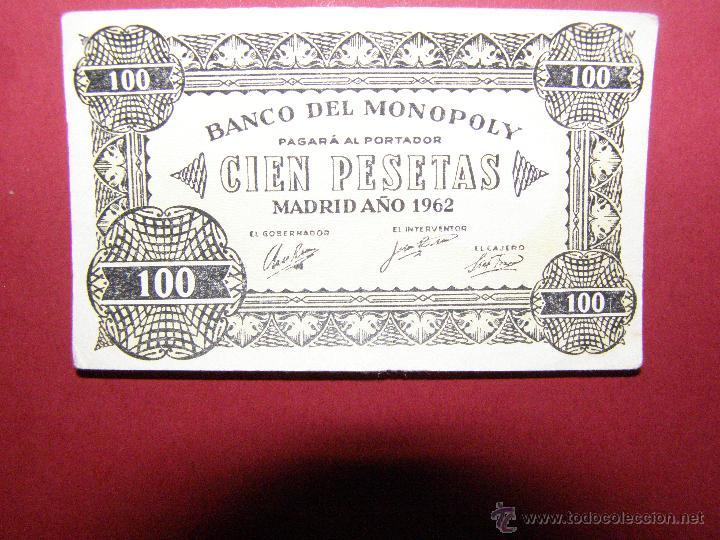 Billetes con errores: Billete Monopoly - 100 Pesetas - Madrid Año 1962 - - Foto 3 - 40392555