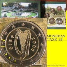 Billetes con errores: IRLANDA 2005 CARTERA OFICIAL CON ERROR EN 2 EUROS NUCLEO DESCENTRADO- VARIANTE- ERROR. Lote 42582004