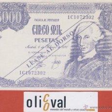 Billetes con errores: BILLETE HUMOR -CINCO MIL PESETAS -VALENCIA -CORONA - VIOLETA. Lote 42887741