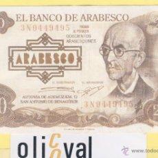 Billetes con errores: BILLETE HUMOR -DOCIENTAS PESETAS 200 ARABESQUINES ,-SALA ARABESCO -VALENCIA - -. Lote 43924997