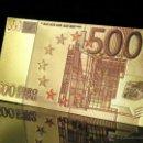 Billetes con errores: PRECIOSO BILLETE DE 500 €UROS ORO Y COLOR A UNA SOLA CARA EN RELIEVE. Lote 159241450