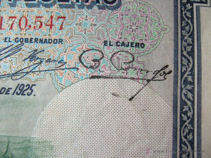 Billetes con errores: 4 billetes 100 pesetas 1925 con error firma cajero, mismo pliego, 2 correlativos. Error - Foto 5 - 45147571