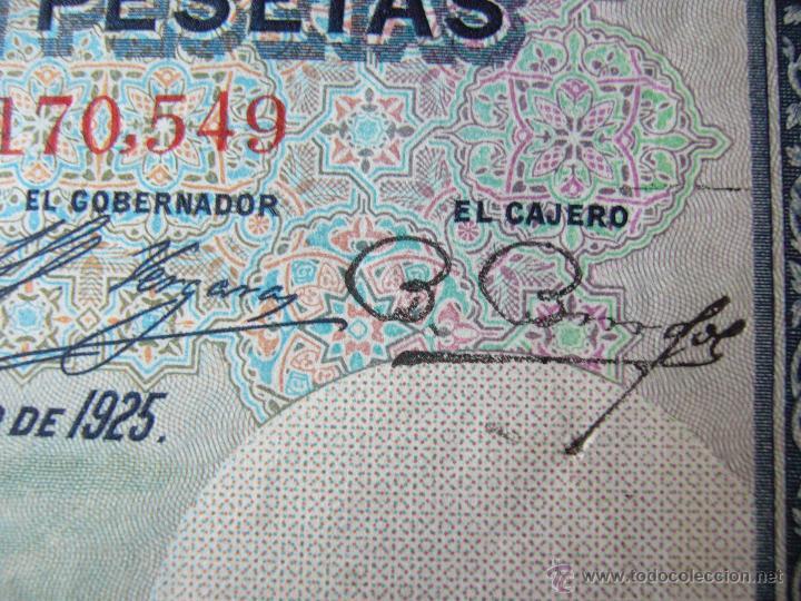 Billetes con errores: 4 billetes 100 pesetas 1925 con error firma cajero, mismo pliego, 2 correlativos. Error - Foto 6 - 45147571