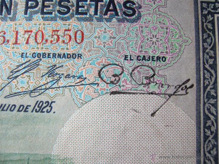 Billetes con errores: 4 billetes 100 pesetas 1925 con error firma cajero, mismo pliego, 2 correlativos. Error - Foto 7 - 45147571