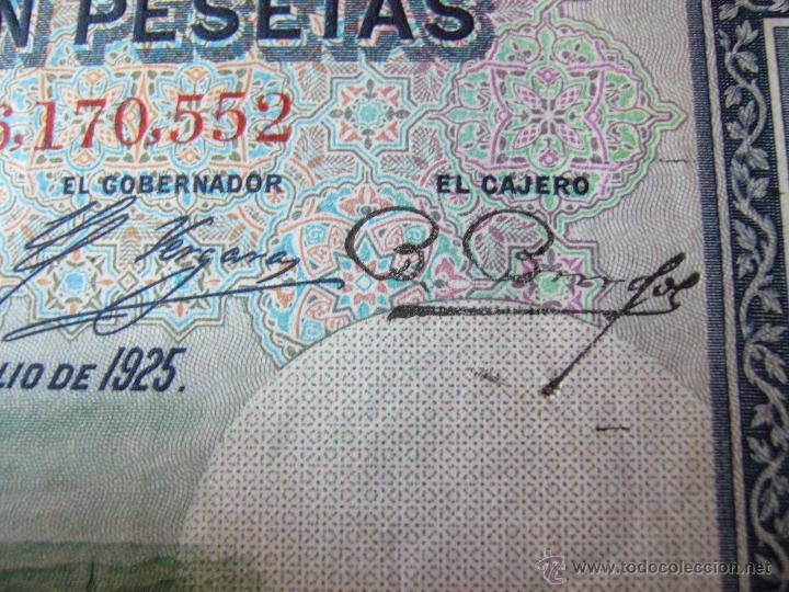 Billetes con errores: 4 billetes 100 pesetas 1925 con error firma cajero, mismo pliego, 2 correlativos. Error - Foto 8 - 45147571