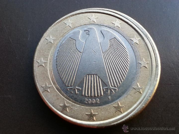 ## ERRORES Y VARIANTES ## 1 EURO ALEMANIA 2002 F- DESPLAZADO ## (Numismática - Notafilia - Variedades y Errores)