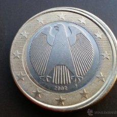 Billetes con errores: ## ERRORES Y VARIANTES ## 1 EURO ALEMANIA 2002 F- DESPLAZADO ##. Lote 51653090