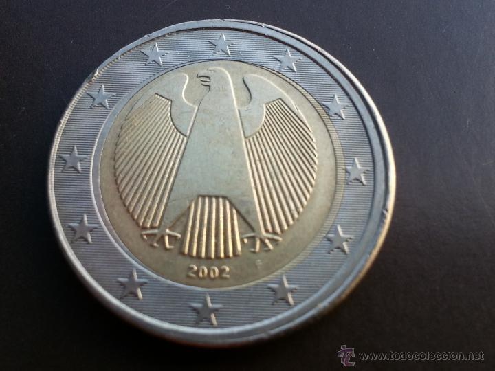 ## ERRORES Y VARIANTES ## 2 EURO ALEMANIA 2002 F- ACUÑACION DESPLAZADA ## (Numismática - Notafilia - Variedades y Errores)