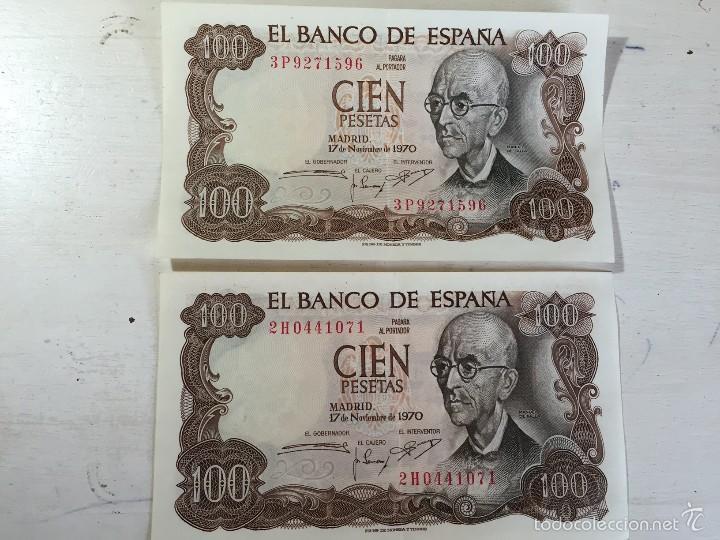 BILLETE ERROR 100 PESETAS DE 1970. (Numismática - Notafilia - Variedades y Errores)