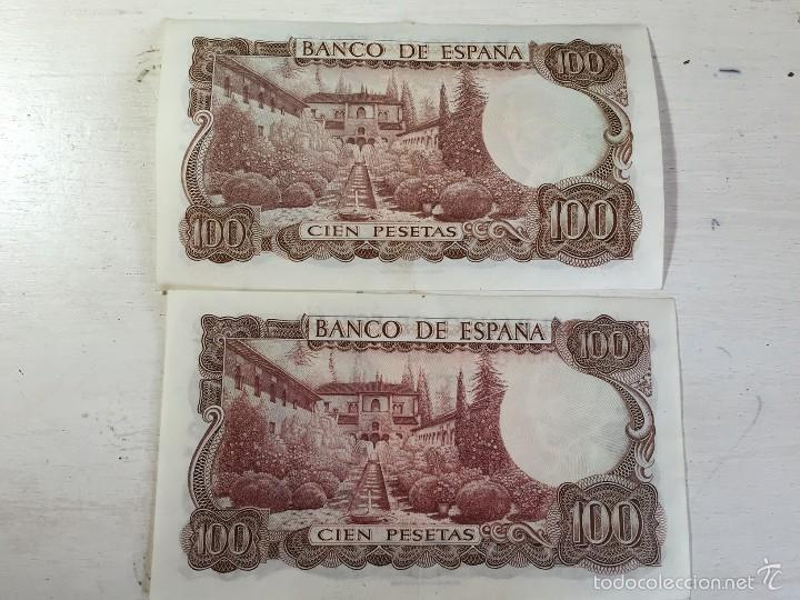 Billetes con errores: Billete ERROR 100 pesetas de 1970. - Foto 2 - 57866232