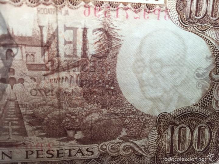Billetes con errores: Billete ERROR 100 pesetas de 1970. - Foto 3 - 57866232