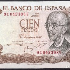 Billetes con errores: BILLETE, BANCO DE ESPAÑA, MANUEL DE FALLA, 100 PTAS, 1970, SERIE ESPECIAL 9 C . Lote 61758560