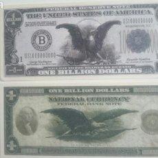 Billetes con errores: BILLETE DE USA 1 BILLÓN DÓLARES. Lote 63563167
